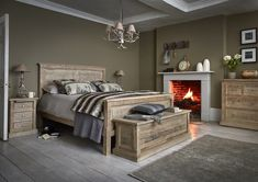 When it comes to bedroom style, classic doesn't have to mean dated. Create a cosy and sophisticated bedroom look with our Manor Reborn trend. Trendy Bedroom, Modern Bedroom, Bedroom Rustic, Master Bedroom, Sophisticated Bedroom, Bedroom Colour Palette, Country House Interior, Interiors Magazine, Wood Beds