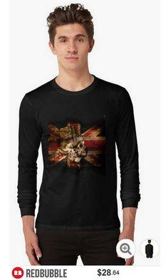 Skull Flag Longsleeve Tshirt #artbyurte