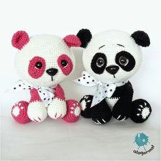 www.alegorma.com #amigurumi #szydelko #crochettoy #zabawkarstwo #alegorma #panda #pandabears