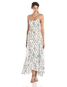 Plenty by Tracy Reese Women's Printed Flounce Hem Maxi Dress, Multi Rustic Diamonds, X-Small Plenty by Tracy Reese http://www.amazon.com/dp/B00U5SNM8Y/ref=cm_sw_r_pi_dp_gWLqvb17Y89B1