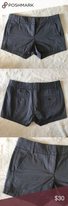 """J. Crew 3"""" chino shorts gray J. Crew 3"""" Chino shorts. EUC. Size 4. Offers welcome. Bundle and save. J. Crew Shorts"""