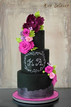 tutorial how to make a chalkboard cake