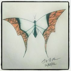"100 Butterflies in 100 Days, Day 58 - ""Positivity"", Medium: Color Pencil"