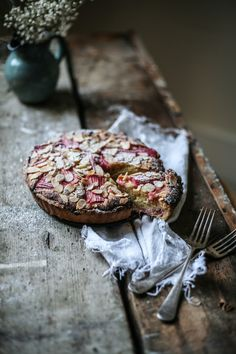 Rhubarb & Blood Orange Bakewell tart