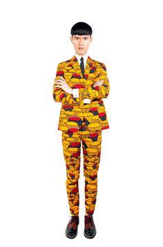 dent de man must-have suit. #vlisco #vliscocolourcontest #contest #pintowin #orange #yellow