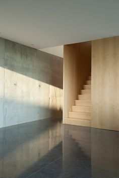 Concrete wall and floor La Shed Architecture, Wall Railing, Railings, Loft Stairs, Interior Stairs, Concrete Wall, Textured Walls, Flooring, Interior Design