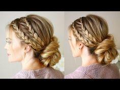 Triple Braided Updo | Missy Sue - YouTube