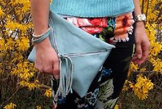 Leather Tassel Clutch | Sewing Project: 11 Chic DIY Clutches Every Stylish Gal Needs