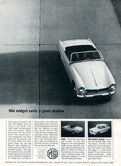 1963 MG Midget Advertising Road & Track July 1963 | Flickr - Photo Sharing!