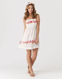 Accessorize - Folk Embroidered Bandeau Dress
