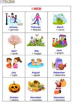 Vocabolario con immagini inglese | AiutoDislessia.net Teach English To Kids, Teaching English, Learn English, English Vocabulary, English Grammar, English Language, British Vs American, American English, English Time