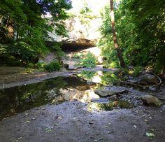 Basin of the Williamsport Falls, Warren County Indiana on July 10, 2016