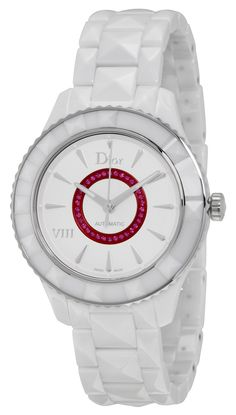 Christian Dior VIII White Dial Ceramic Ladies Watch CD1245E8C001 *** Click on the watch for additional details.