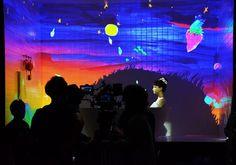 ヘアケア『ベーネプレミアム ルージュリア/ブルーリア』のWeb限定動画 髪に映し出される様子