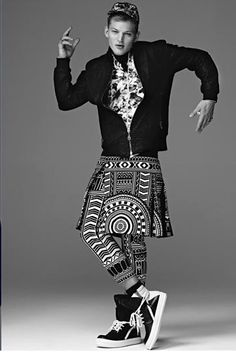 KTZ AW13| Embroidered Apron Pants Sebastian Sauve.....* Reference ASAB=As above so below.