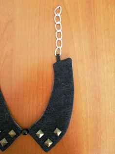 Colletto-Bijoux in denim con borchie #1