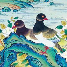 이문성 작가와 함께하는 궁중화조도 그리기 Ⅲ | 월간민화 Korean Painting, Korean Art, Bird, Animals, Crafts, Pintura, Animales, Manualidades, Animaux