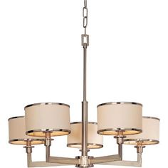 Nexus Satin Nickel Five Light Chandelier Maxim Lighting International Candles W/ 4 Or 5 Sh
