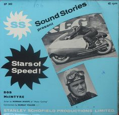 Sound Stories - Stars of Speed Bob McIntyre Murray Walker EP302 1963 EX 7""