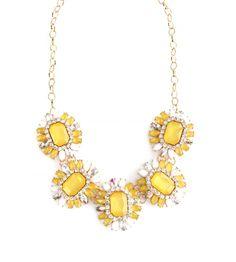 MIRARI Yellow Opal Foliage Marquise Stone Necklace