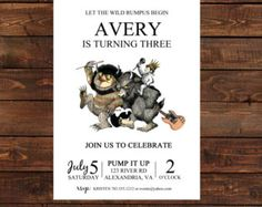 Where The Wild Things Are PRINTABLE Invitation