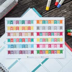 12 Weekend Banners Fasy Collection // Perfect for Erin Condren Life Planner by FasyShop on Etsy