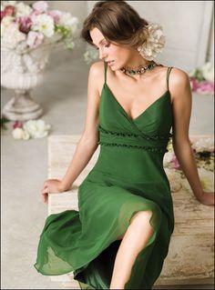 Chiffon Green Bridesmaid Dress