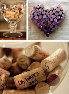 @Meagan R this made me think of your vineyard theme! looks like a pretty way to incorporate color with corks :)