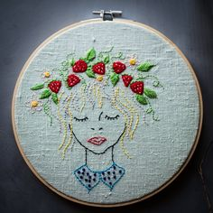 Customizable handmade embroidery portrait, request a custom portrait made on this pattern by Stitchingnoob on Etsy