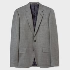 The Soho - Men's Tailored-Fit Grey Wool Suit