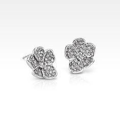 Blue Nile Monique Lhuillier Floral Diamond Stud Earrings in White Gold Sapphire Jewelry, Diamond Hoop Earrings, Gemstone Jewelry, Diamond Earrings, Diamond Stud, Diamond Jewellery, Statement Jewelry, White Gold Jewelry, Monique Lhuillier