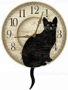 Infinity Instruments Wagging Cat Tail Pendulum Clock