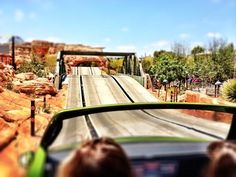 POV shot from Radiator Springs Racers #CarsLand #Disneyland
