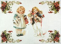 Rice Paper for Decoupage Decopatch Scrapbook Craft Sheet Vintage Christmas Girls