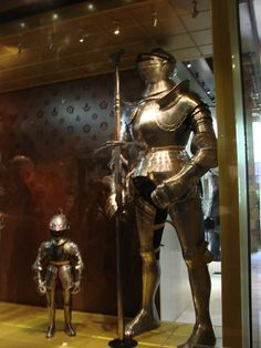 The smallest suit of armor ever. London.