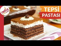 MİSAFİRE EN KOLAY PASTA ✅TEPSİ PASTASI - YouTube Vanilla Cake, Chocolate Cake, Tiramisu, Sweet Treats, Food And Drink, Cookies, Baking, Ethnic Recipes, Desserts