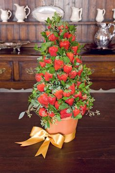 Strawberry Topiary centerpiece