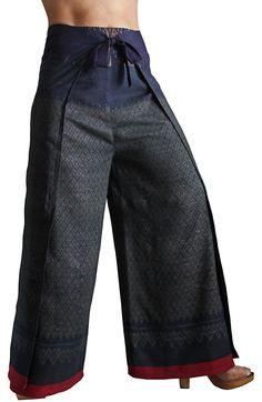 Old tie silk lap trousers