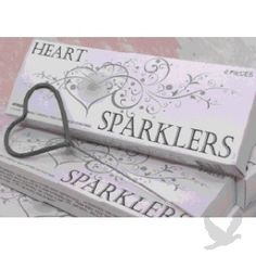 heart shaped sparklers and other wedding stuff