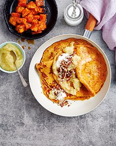 Sweet potatoe pancakes with Apple Sauce