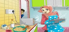 cookie time colored by cahaya-pemimpin Islamic Events, Islamic Cartoon, Cute Muslim Couples, Muslim Family, Hijab Cartoon, Teenage Girl Photography, Romantic Pictures, Couple Cartoon, Love Painting