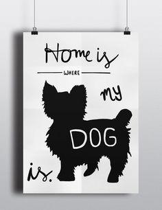 Home is where my dog is Digitaler Druck/Printable. von jolimanoli