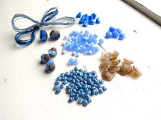 Cornflower Fields  inspiration kit for by thecuriousbeadshop, £13.00