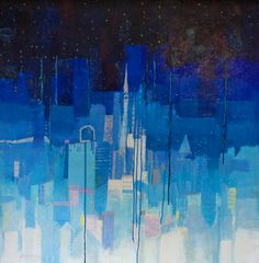 Luigi Bargellini, Star Dust - Polvere di Stelle, 2005, olio e acrilico su tela incollata su compensato, 100x100 cm