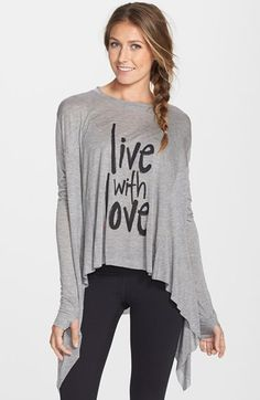PEACE LOVE WORLD 'Live with Love' Parachute Top available at #Nordstrom