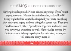 rules for a relationship