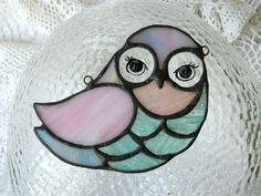 Stained glass cute owl 10