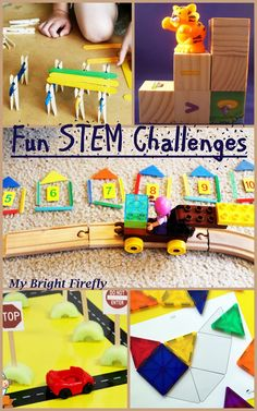 STEM Challenges in the Block Center for Preschool and Kindergarten My Bright Firefly: Fun STEM Challenges in the Block Center for Presch.My Bright Firefly: Fun STEM Challenges in the Block Center for Presch. The Block, Block Play, Stem Science, Science For Kids, Science Experiments, Block Center, Block Area, Stem For Kids, Stem For Preschoolers