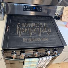 Personalized Stove Top Cover, Custom Ottoman Tray, Noodle board, Greg – Stamp Out Rustic Kitchen Island, Farmhouse Style Kitchen, Country Farmhouse Decor, Modern Farmhouse Kitchens, Rustic Decor, Kitchen Islands, Farmhouse Sinks, Small Kitchens, Primitive Decor