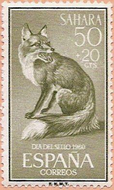 Sello Sáhara Español, Día del Sello 1960 - Portal Fuenterrebollo